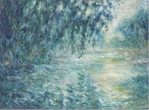 Paier Decoupage Monet Morning on the seine in the rain